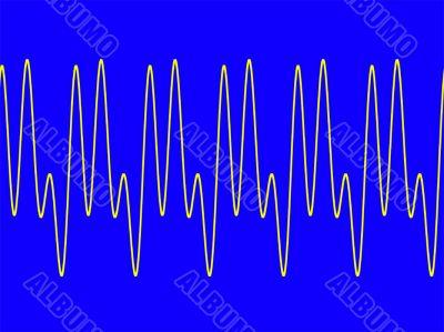 Waveform on blue