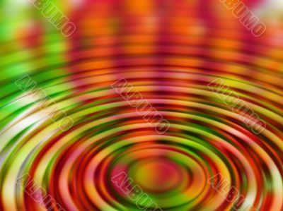 coloured rippled reflection