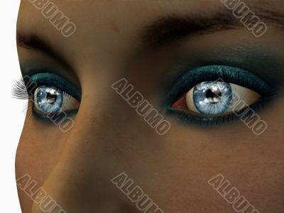 Blue Eye Reflection