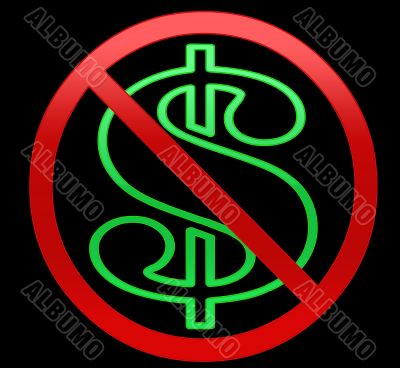 No Dollars/money Illustration