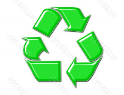 Recycle Symbol in Green