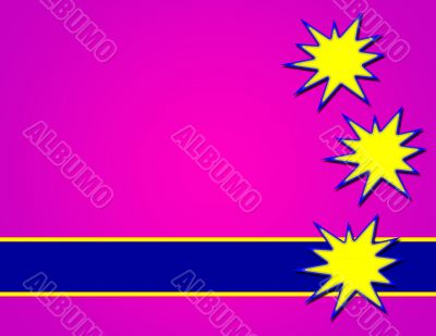 Purple Background with Yellow Splashes
