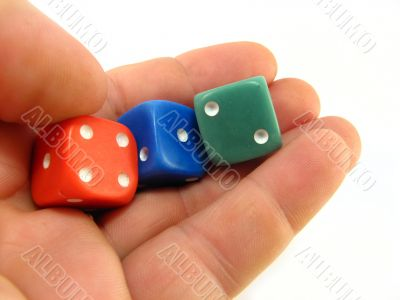 colored dices