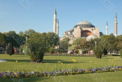 Famous Church of Sofia in Istanbul