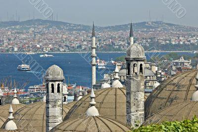Turkish view on Bosporus. Turkey