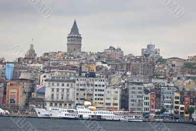 Turkish view on Bosporus.
