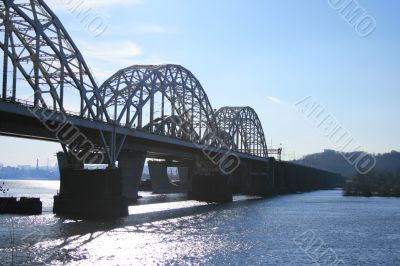 two parallel railway bridges