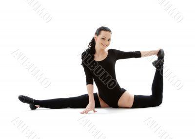 fitness instructor in black leotard 2