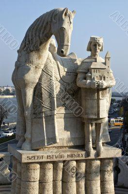 Monument of the first Hungarian king Ishtvav.