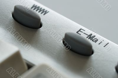 www and e-mail button