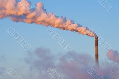 smoking tubes with sky