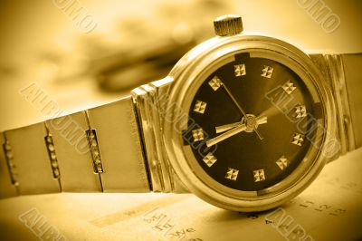 sepia tint watch time concept