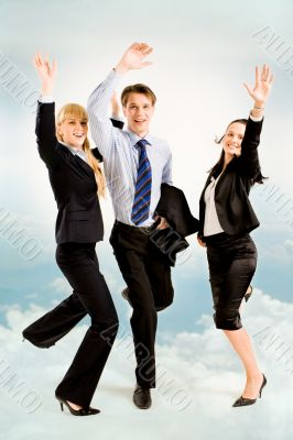 Joyful business people