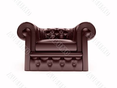 Leather royal armchair