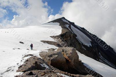 Trekking  on a mountain