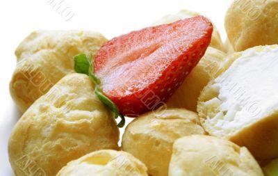 Strawberry on cakes