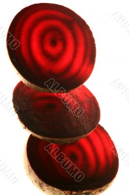 Beet isolated in white background