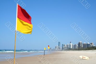 Swimming Safety Flags Gold Coast