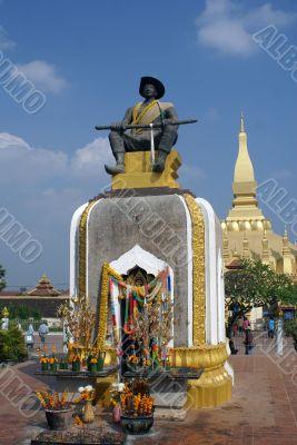King and stupa