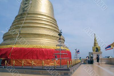 Near golden stupa