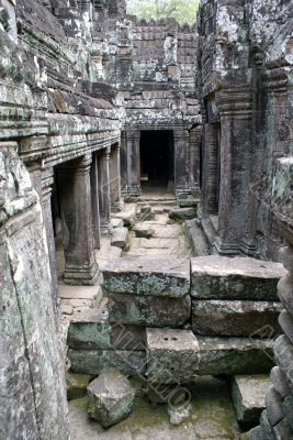 Inside Bayon temple