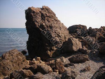 Rocks and Summer Sea