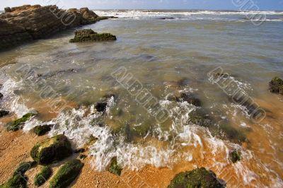 Stone ledge in the sea