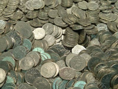 Pile of UK coins