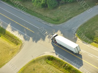 TRUCK AT CROSSROADS