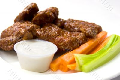 Chicken Wings, Celery and Carrots