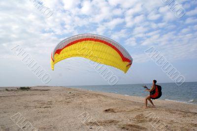 Parachute on the beach