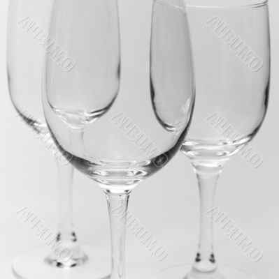 three glasses close-up