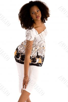 African girl in a fashion pose