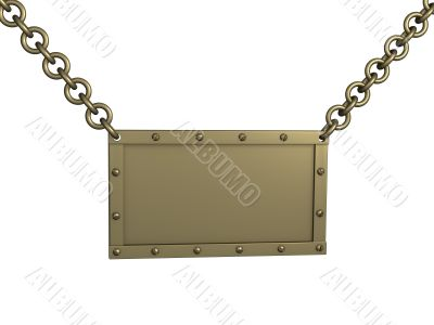 The 3d brass tablet, suspended on circuits