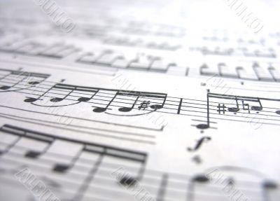 Close-up musical notes