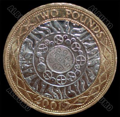 A British 2 Pound Coin