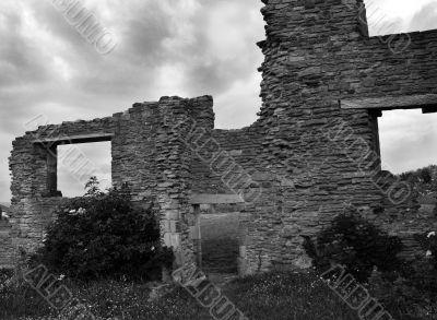 Ruins Under a Moody Sky
