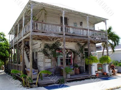 Key West weathered building