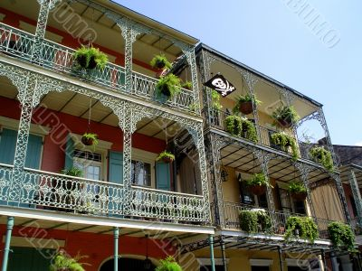 Wrought Iron Balconies French Quarter New Orleans