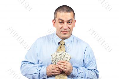 Holding a fan money