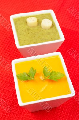 Spinach and carrots puree