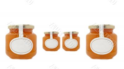 Apricot jam jars