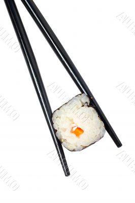 Sushi and chopsticks