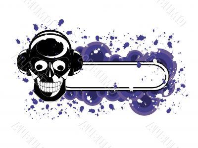 Grunge Skull Banner