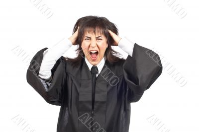 Angered female judge