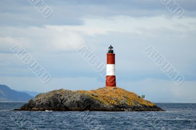 Famous lighthouse on the Beagle Channel
