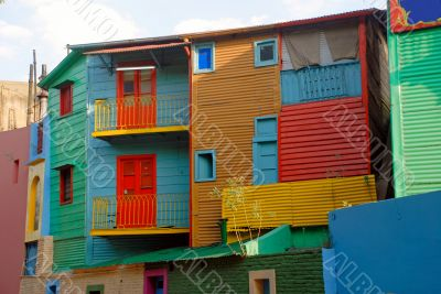 Colorful homes in La Boca - Buenos Aires
