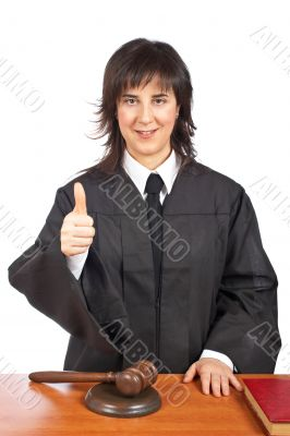 Judge success gesture