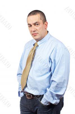 Serious businessman