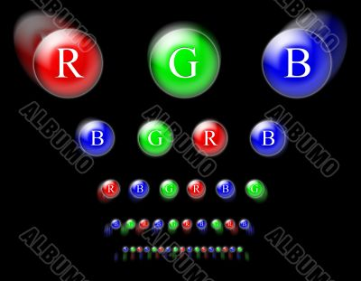 RGB circles on black background